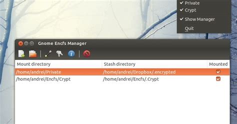 gnome themes manager gnome encfs manager cryptkeeper alternative with ubuntu