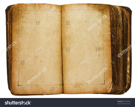 book page pictures book with blank pages stock photo 37795549