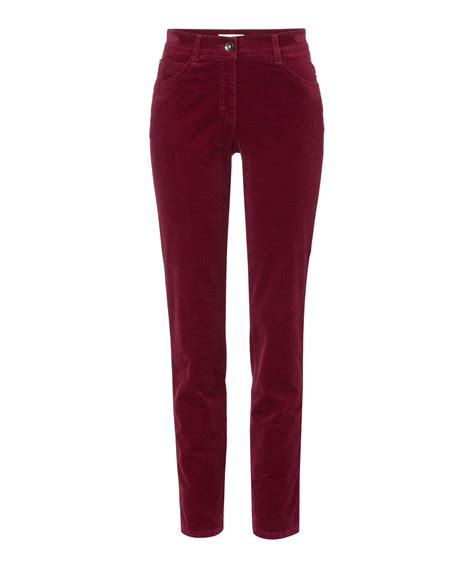 Velvet Trousers brax slim leg velvet trousers in brax