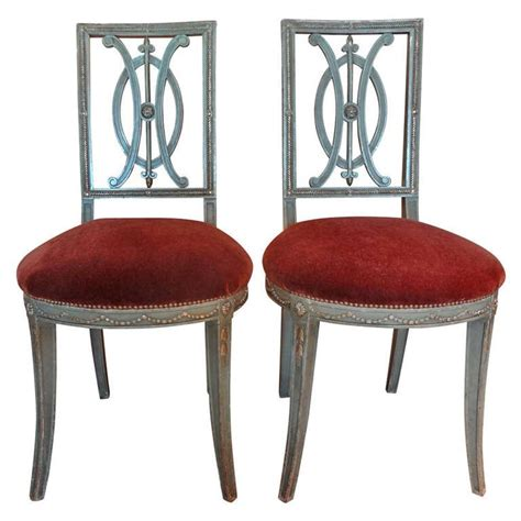 Pair of 19th century french directoire style chairs side chair and modern