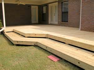 flat deck with wrap around steps3 rl fence amp decks