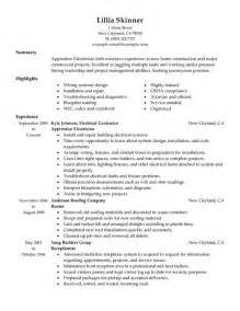 Electrical Apprentice Resume Sle by Apprentice Electrician Resume Sle Search Strategies Resume Exles And