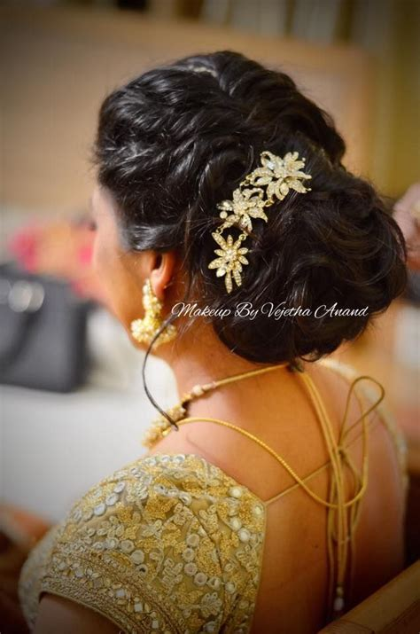 hairstyle design for reception indian bride s reception hairstyle by vejetha for swank