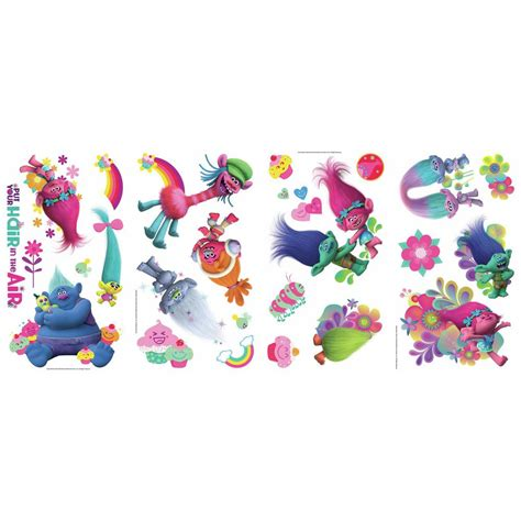 RoomMates 5 in. x 11.5 in. Trolls Movie 24 Piece Peel and