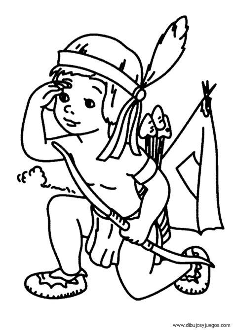 Dibujos De Indios 016 Y Juegos Para Pintar Colorear Indios Para Colorear