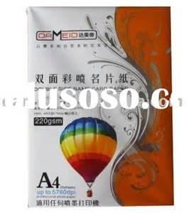 Matte Coated Card Paper 220g 50pcs card paper card paper manufacturers in