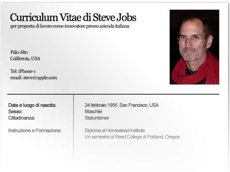 Formato Curriculum Vitae Non Europeo Formato Europeo Per Il Curriculum Vitae Di Steve Autori Fanpage