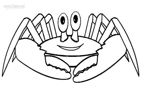 blue crab coloring page printable crab coloring pages for kids cool2bkids