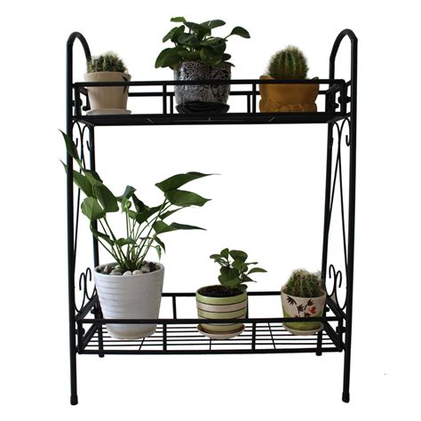 Metal Plant Rack by 2 Tier Metal Shelves Indoor Plant Stand Display Flower