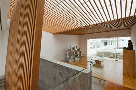 Ceiling Slats by Open Wood Slats Wall Ceiling Architectural Details