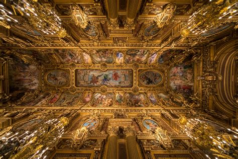 Plafond Palais Garnier by Palais Garnier Opera House Interior 10mm Wide Angle