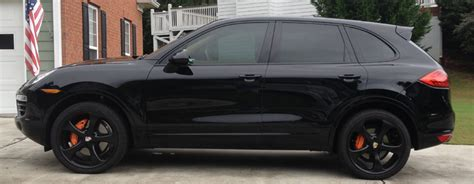porsche suv blacked out debadged and blacked out the cd 6speedonline porsche