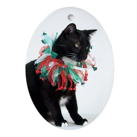 black cat christmas ornament by tylerdog