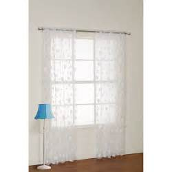 dot curtains your zone flocked dot sheer curtain panel walmart