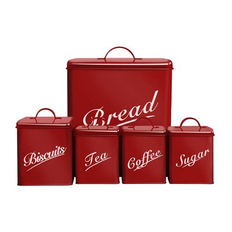 Red Kitchen Canisters Set by Red Bread Bin Bread Bins Mince His Words