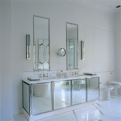 mirrored bathrooms rodono house master bathroom mirrored vanity unit with