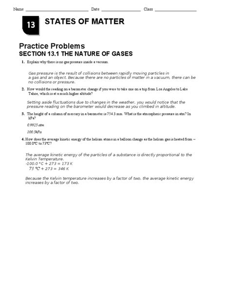 chemistry chapter 13 section 1 review answers chapter 13 1 nature of gases