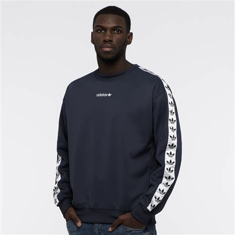 Adidas Men39s Authentic Logo Crew Sweatshirts Blue Original mens clothing adidas originals tnt crew trace