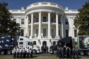 trumps house rigged president turns 18 wheeler into a trump truck nbc news