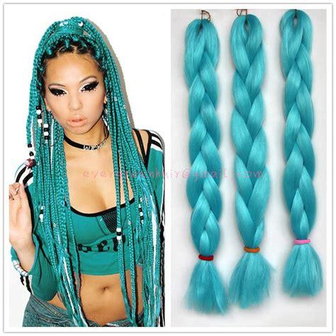 lake blue single color box braids twists crochet box