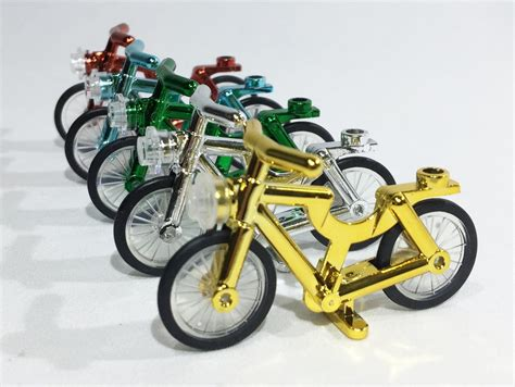 Premium Lego Bicycle Bike Original Lego Part Sepeda White Green Bl brick loot minifigure bicycles set of 5 compatible chrome bikes for