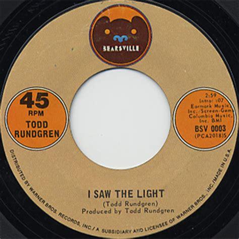 todd rundgren i saw the light c w marlene 7inch