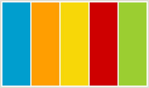 yellow color schemes colorcombo168 with hex colors 009ece ff9e00 f7d708