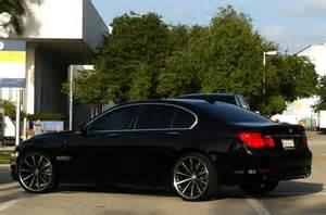 black bmw 750i with custom vossen rims cars on