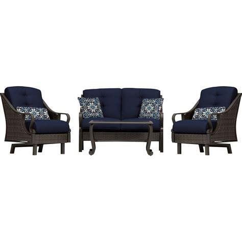 Botol Air Four Season 4pc ventura 4pc seating set in navy blue ventura4pc nvy