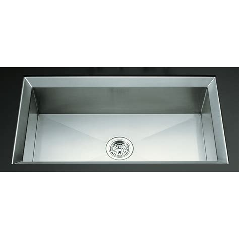 shop kohler poise stainless steel single basin undermount