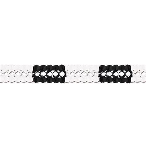 4m lang girlande schwarz wei 223 4m lang hochwertige qualit 228 t 4 99