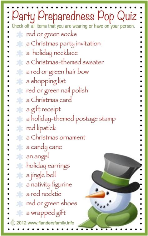 printable christmas games for office preparedness pop quiz free printable the flanders family website