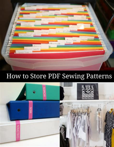 sewing pattern storage how to store printable sewing patterns peek a boo pages