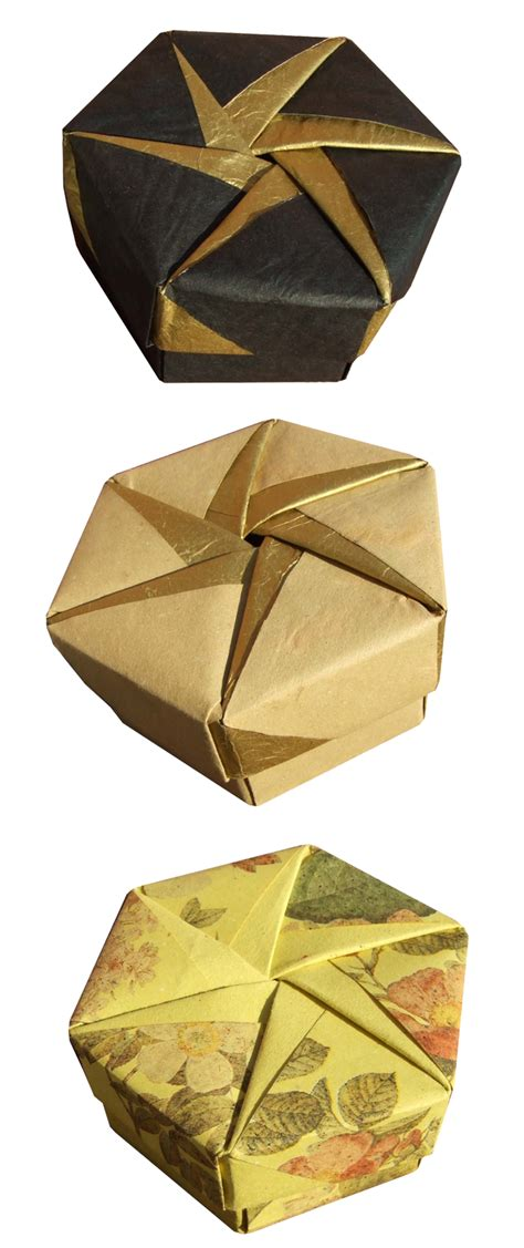 origami hexagon box origami maniacs tomoko fuse 180 s origami hexagonal box by