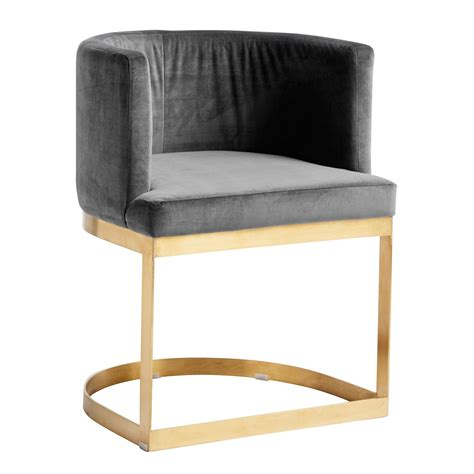Half Circle Chair by Half Circle Dining Chair In Grey