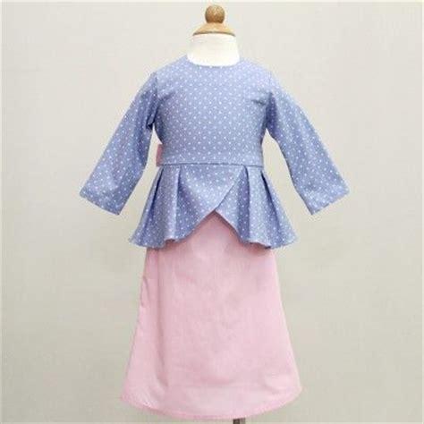 baju kurung pattern for baby polka peplum baju kurung baby blue pink kids dreses