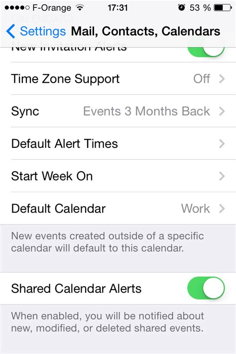 set calendar as default on iphone calendar default calendar on iphone vyte