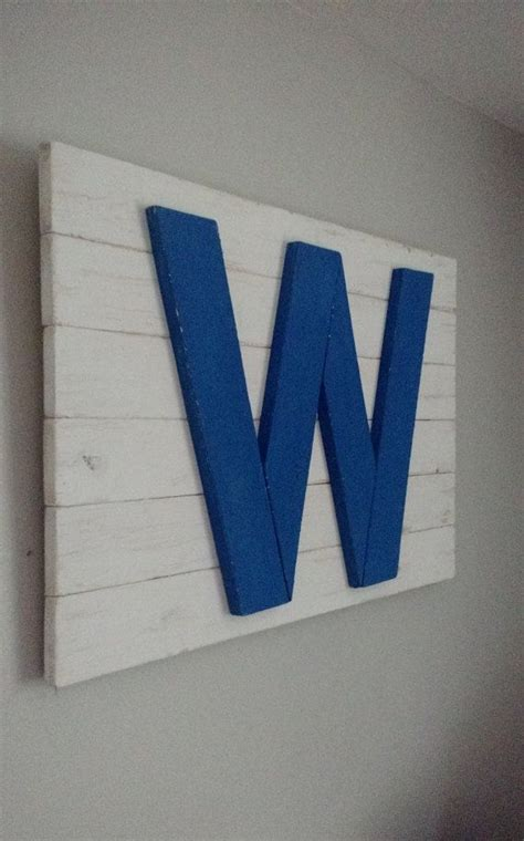handmade rustic chicago cubs w flag chicago flag