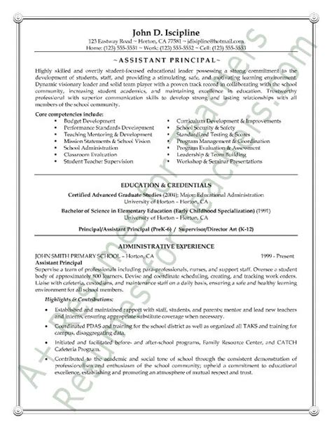Resume Exles For High School Principal 10 Best Images About Resume Sles On Entry Level High Schools And Middle School