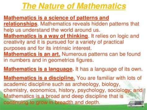 pattern and relationships in math teaching of mathematics