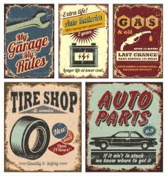 cars signs vintage car metal signs and posters stock