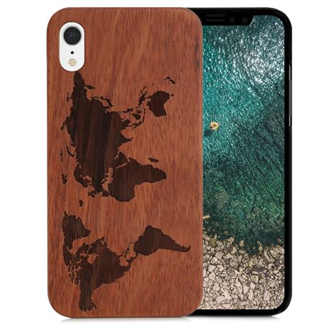 couldbewood iphone xr holzhuelle weltkarte