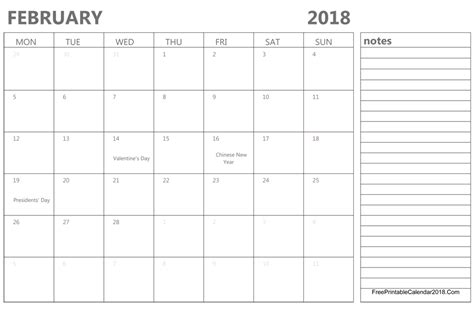 printable calendar january february 2018 february 2018 calendar templates