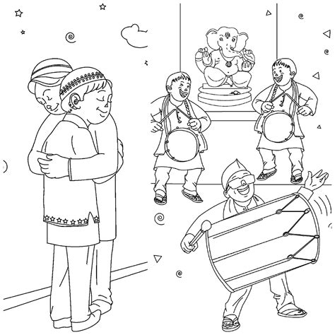 Coloring Pages Festivals India | here is how colouring pages will teach kids to celebrate