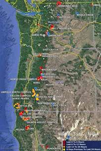 maps of wildfires in the northwest u s wildfire today