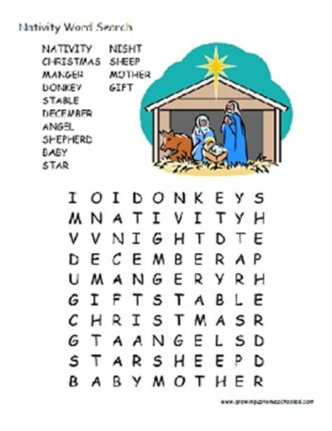 printable nativity puzzle nativity wordsearch search results calendar 2015