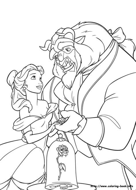 printable coloring pictures of beauty and the beast beauty and the beast coloring picture