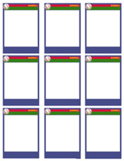 baseball card templates free blank printable