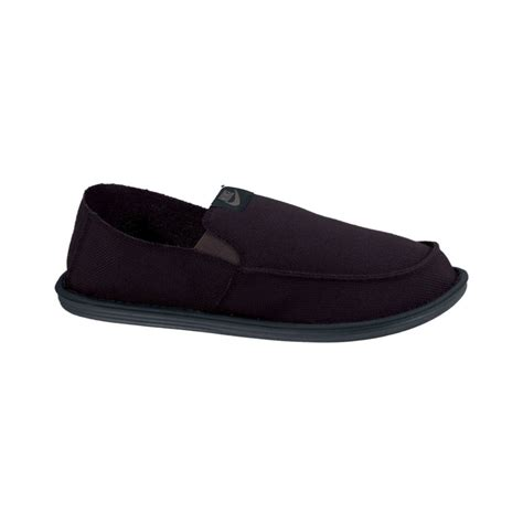 nike solarsoft lakeside slip on shoes in black for