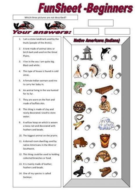An American Worksheet Funsheet For Beginners Americans Indians Worksheet Free Esl Printable Worksheets